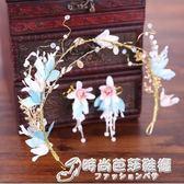 新娘頭飾2018新款大氣韓式森系花朵花環婚紗白色發飾影樓結婚飾品 時尚芭莎鞋櫃