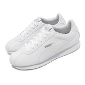 Puma 休閒鞋 Turin 低筒 皮革 慢跑 馬拉松 健身房 白 全白 女鞋 【ACS】 36011605