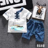 中大尺碼 童裝男童漢服夏季唐裝嬰兒短袖4棉麻兩件式兒童寶寶民族風潮 qz52【優品良鋪】