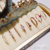 戒指日韓潮人開口戒指女飾品韓國簡約食指環關節戒子氣質個性微鑲對戒  嬌糖小屋
