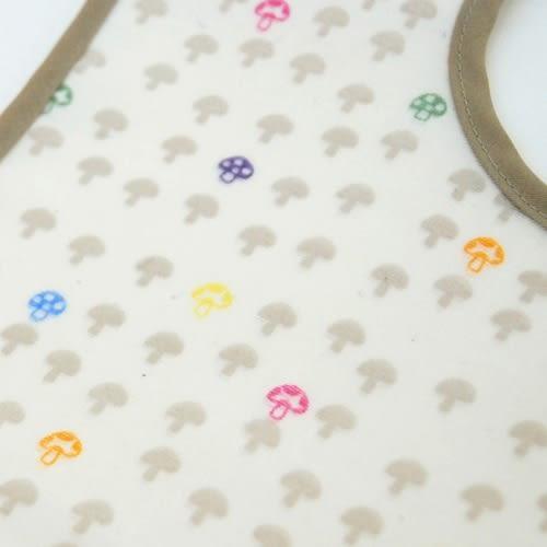 【日本 Hoppetta】蘑菇餐圍兜-白色