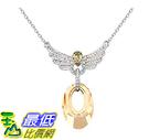 [美國直購] Gorgeous Jewelry Love Wings Pendant Swarovski Austrian Crystal Deluxe Diamond Accented Drop Necklace