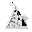 白色款【日本進口正版】長頸鹿 造型時鐘 指針時鐘 可伸縮長度 可掛物品 - 381017