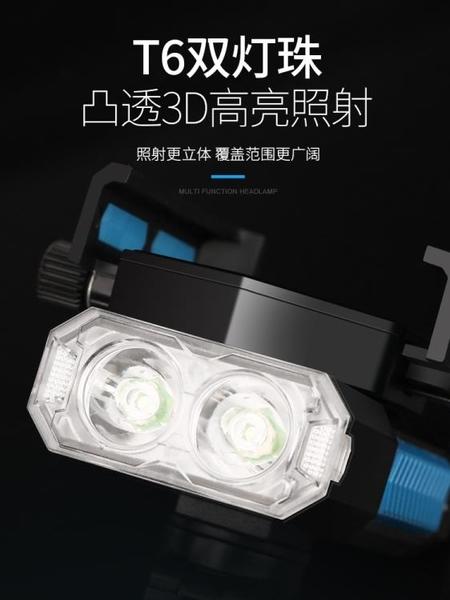 自行車燈車前燈強光夜騎燈騎行手電筒單車T6充電照明燈
