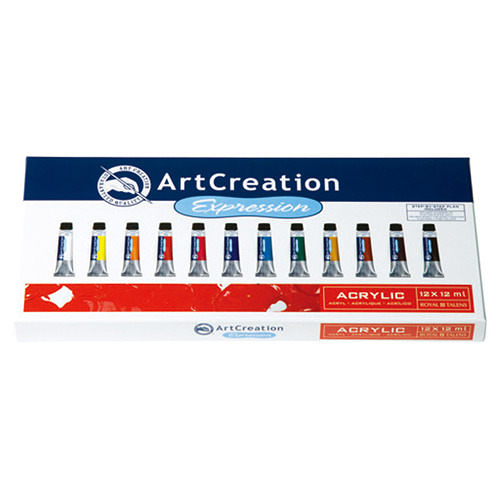 Ar t Creation Expression 9011712M 壓克力顏料 12色入 / 盒