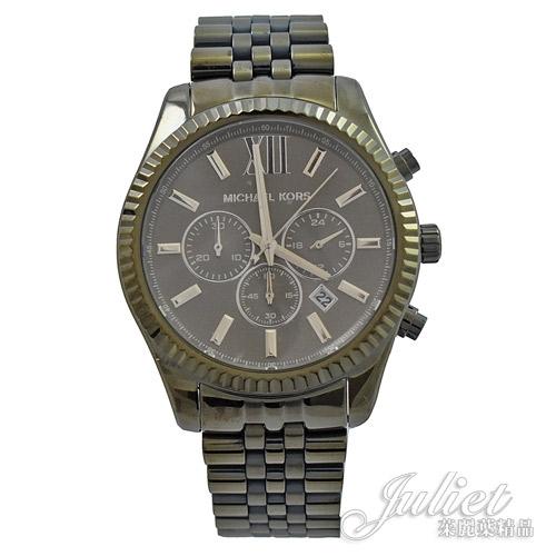 茱麗葉精品【現貨優惠】MICHAEL KORS MK8604 大款不鏽鋼腕錶.橄欖色