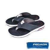 【PEGADA】巴西名品時尚夾腳運動涼拖鞋  水洗深藍(31903-WAS)