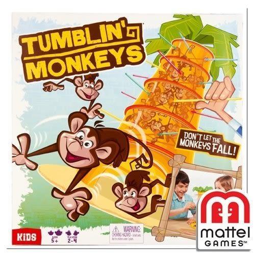 【MATTEL GAMES】趣味桌上遊戲-跳跳猴大挑戰→Dobble Kids 哆寶小子 內鬼疑雲 批發