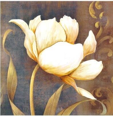現代簡約客廳裝飾畫復古花卉沙發背景牆壁畫臥室掛畫無框畫三聯畫