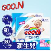 【GOO.N 】日本境內 最新款 大王尿布 (新生兒NB) 1箱-共4包