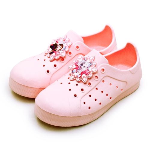 LIKA夢 Disney 迪士尼 16cm-20cm 冰雪奇緣 FROZEN 2 輕量兒童洞洞涼鞋 台灣製造 蜜桃粉 04683 中童