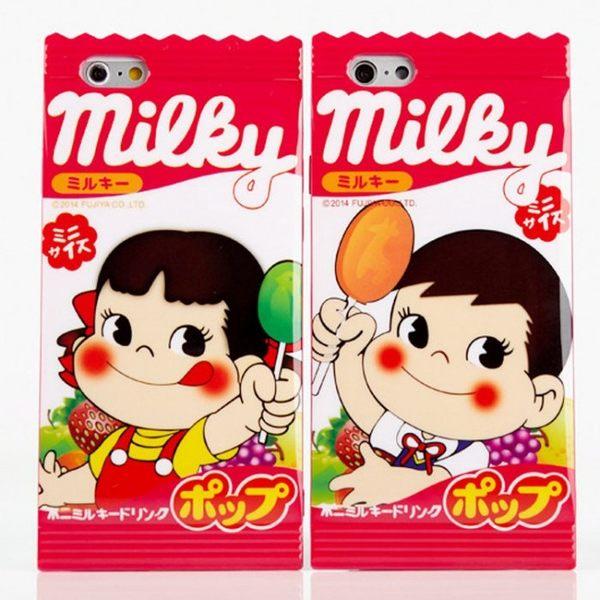iPhone手機殼 原味/草莓/棒棒糖 不二家牛奶糖 矽膠軟殼 蘋果iPhone7/iPhone6/iPhone5