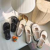 甜美蝴蝶結單鞋lolita圓頭娃娃鞋淺口可愛洛麗塔小皮鞋【聚可愛】