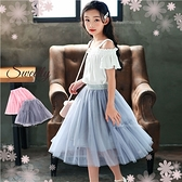 柔采飄逸網紗長裙-2色(內有安全褲)(290358)【水娃娃時尚童裝】
