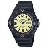 【CASIO】潛水風DIVER LOOK系列錶-黑X鵝黃(MRW-200H-5B)