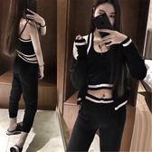 針織休閒運動服套裝女2018春秋裝新款韓版