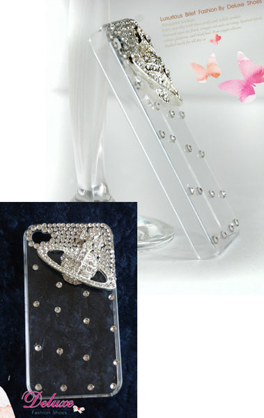 ☆Deluxe☆時尚新潮流~立體蝴蝶結手工水晶珍珠iPhone專用手機殼★四色