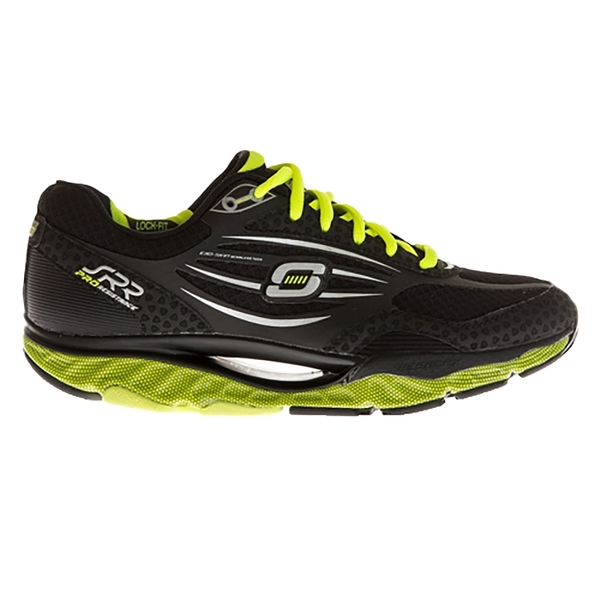 SKECHERS SRR PRO RESISTANCE 男慢跑系列 台灣獨賣款回彈力慢跑鞋 999636BKLM 黑綠