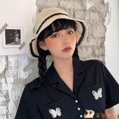 蕾絲漁夫帽女韓版百搭日系遮陽防曬時尚遮臉帽子女款夏薄款 KP1495