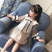 2018新款童裝兒童連身裙韓版大童春裝紗裙