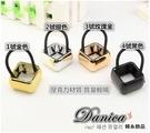 髮束 現貨 熱賣歐美走秀時尚潮風個性方型金屬色壓克力全框馬尾髮束(4色) S7657 批發價
