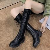 膝上靴 長靴女過膝靴2020新款秋季靴子ins百搭粗跟長筒秋款高筒騎士靴潮