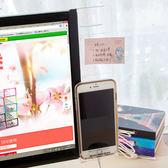 ♚MY COLOR♚螢幕手機支架壓克力貼 透明留言板 提醒 名片 便條紙 通知 備忘錄 便簽 記錄 【T41】