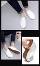 (2171-1-2)-【現貨】新品白色英倫休閒軟皮鞋懶人鞋一腳蹬帆布男鞋潮鞋
