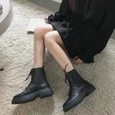 短靴 瘦瘦鞋馬丁靴女夏季新款百搭春秋單靴薄款英倫風短靴子-Ballet朵朵