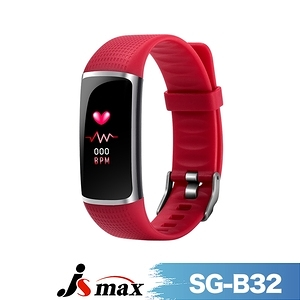 [JSmax] SG-B32智慧健康管理手環紅色