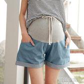 孕婦牛仔短褲女夏季薄款純棉寬鬆夏裝打底褲子托腹2018潮媽外穿