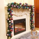 聖誕樹藤條2.7米加密掛飾聖誕節裝飾品花環套餐【宅貓醬】