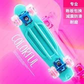 兒童滑板車 專業小魚板四輪滑板成人初學者兒童青少年男孩女孩成年刷街滑板車 夢藝家