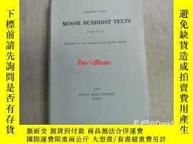 二手書博民逛書店Minor罕見Buddhist texts pt. 1 & 2 <Serie orientale Roma