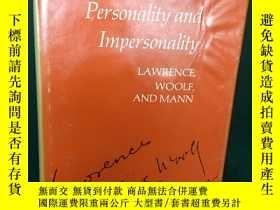 二手書博民逛書店Personality罕見and Impersonality【人
