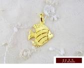 9999純金 黃金 墜飾 黃金魚 年年有餘 墜子 送精緻皮繩項鍊