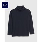 Gap 嬰兒 舒適純色長袖高翻領上衣 489420-藏青色
