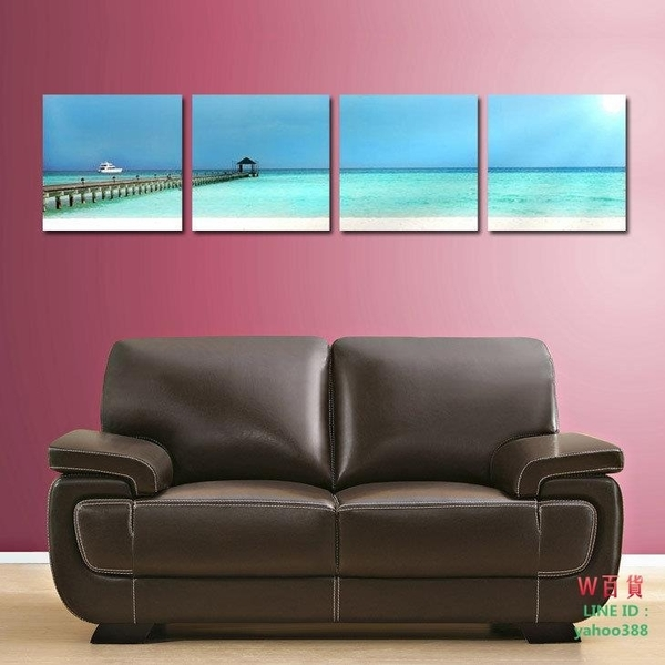 無框畫 裝飾畫 壁畫 版畫 掛畫 海岸線 T014(W139)