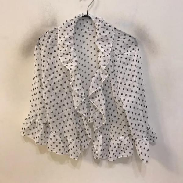 基本款修身顯瘦印花雪紡罩衫(F碼/777-209)