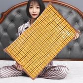 枕頭 夏季涼席枕頭套一對裝兒童乳膠枕套30x50記憶枕套40x60單人竹枕席【快速出貨】