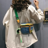 特賣牛仔包包網紅小包包女包2020流行時尚寬帶側背包質感牛仔布斜背包