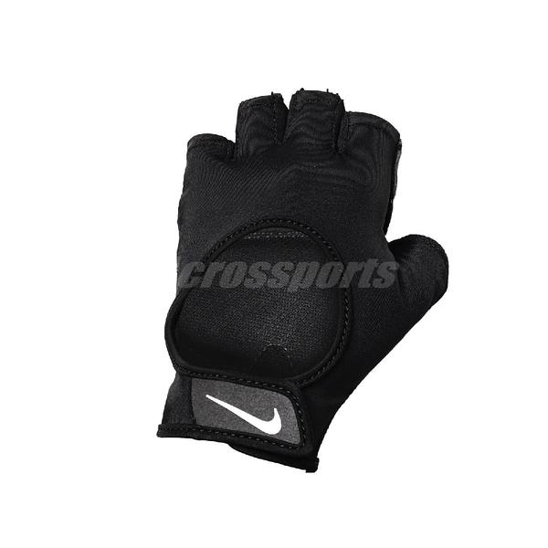 Nike 運動手套 Ultimate Heavyweight Glove 黑 白 女款 健身房 重訓 【ACS】 N0002778-010