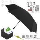 雨傘 萊登傘 超大傘面 可遮三人 易甩乾 不回彈 無段自動傘 鐵氟龍 Leighton 尊爵深黑