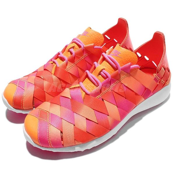 【六折特賣】Nike 休閒鞋 Wmns Juvenate Woven PRM 橘 粉紅 白底 編織鞋面 女鞋 【PUMP306】833825-600