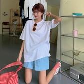 大尺碼上衣 純棉純色短袖t恤女夏季衣服2020年新款韓版寬鬆半袖白色上衣ins潮