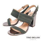 Tino Bellini 巴西進口優雅環型條帶高跟涼鞋 _ 綠 B83220 歐洲進口款