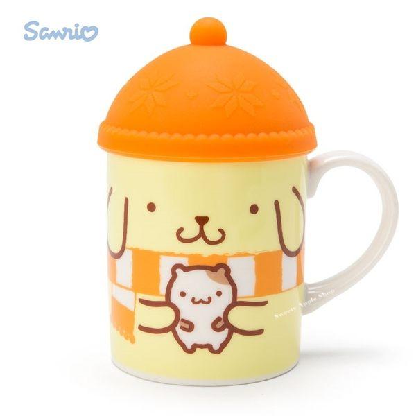 日本限定 布丁狗 針織帽造型杯蓋 馬克杯組