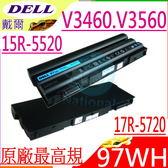 DELL電池(原廠最高規)-戴爾 14r-5425,14r-7420,15r-5520,17r-7720,17r-se,E5420,V3460,V3560,RU485,T54F3