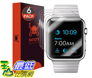 [105美國直購] 蘋果手錶保護膜 Apple Watch 42mm Screen Protector 6-Pack Full Coverage Premium HD Clear Film SK18680