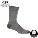 【Icebreaker 男 中筒中毛圈健行襪《灰》】105112/快乾機能襪/排汗襪/羊毛襪